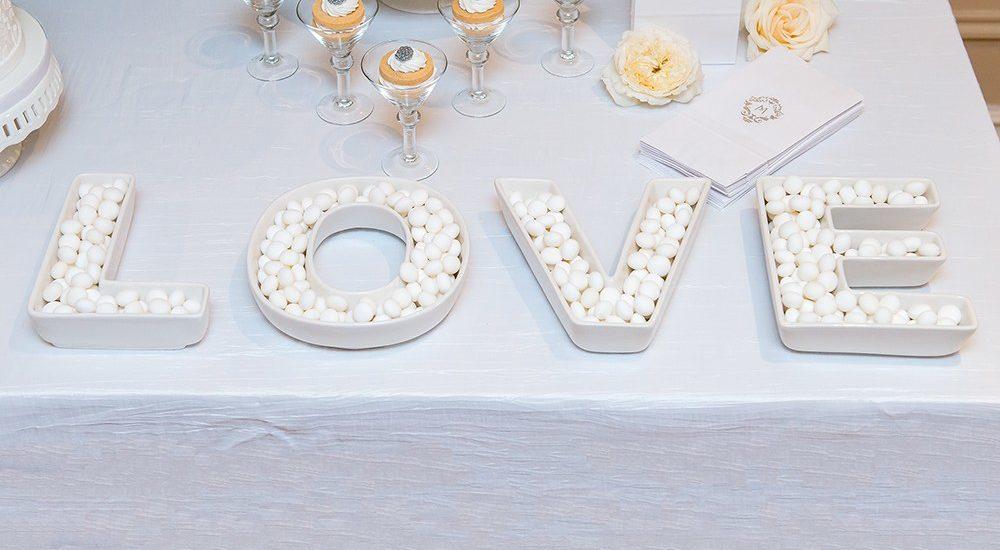 Love Plate Hochzeitsapéro Set